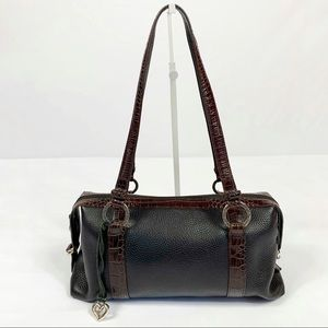 Brighton Pebbled Leather Croc Embossed Handbag